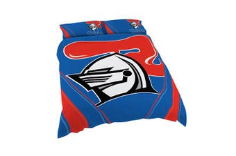 Newcastle Knights NRL DOUBLE Bed Quilt Doona Duvet Cover & Pillow Cases Set NEW