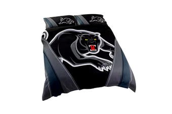Penrith Panthers NRL DOUBLE Bed Quilt Doona Duvet Cover & Pillow Cases Set NEW