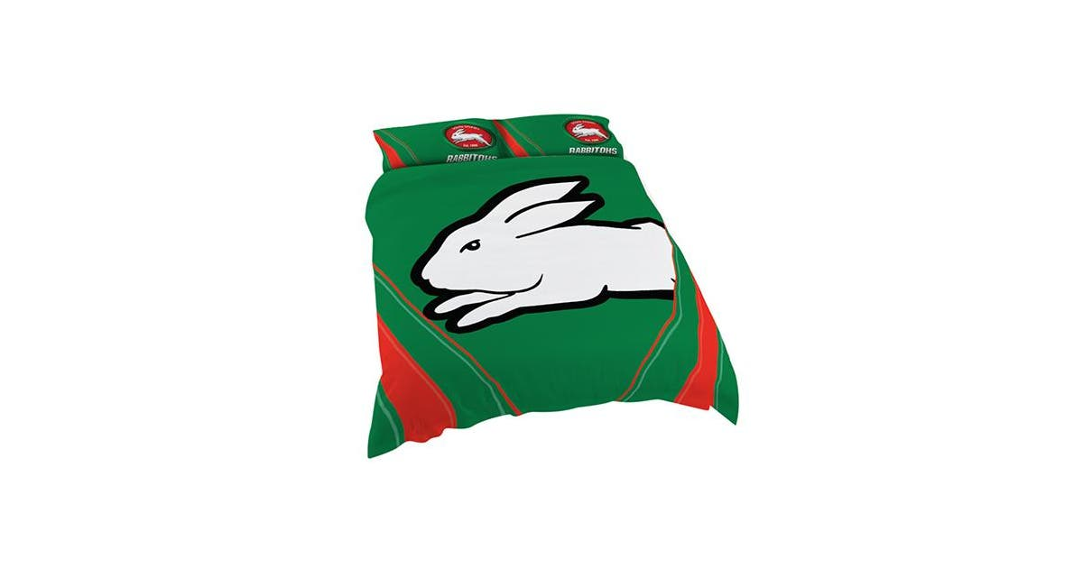 South Sydney Rabbitohs Nrl Double Bed Quilt Doona Duvet Cover Pillow Cases Set New Kogan Com