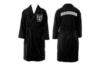New Zealand NZ Warriors NRL Youth Kids Dressing Gown Robe Size 10-12