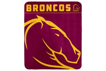 Brisbane Broncos NRL Polar Fleece Rug Blanket