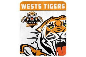 Wests Tigers NRL Polar Fleece Rug Blanket