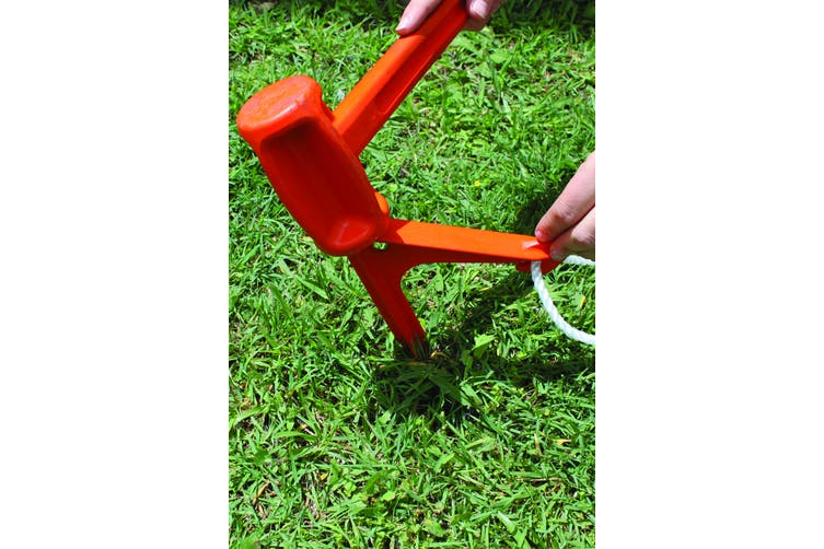 Tent Pegs SUPA PEG GROUND ANCHOR Poly Polypropylene Heavy Duty ORANGE