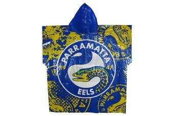 Parramatta Eels NRL Adult Poncho Rain Coat Jacket