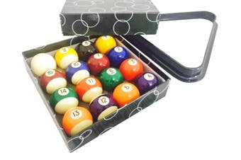 "Brand New Kelly Pool Balls and Triangle Set 2"" inch Standard Size"