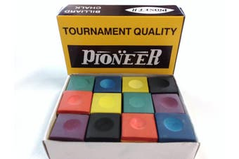 Pool Snooker Billiard Table Chalk 1 x RAINBOW BOX