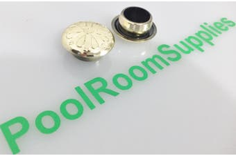 Pool Snooker Billiard Table Buttons FANCY GOLD Plastic price is each
