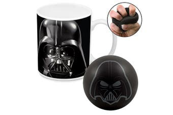 Star Wars Darth Vader Ceramic Coffee Mug Cup and Stress Reliever Ball