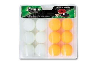 Table Tennis Ping Pong Balls Yellow White 12 Pack