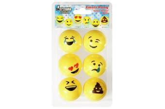 Emoji Table Tennis Ball Ping Pong Balls Novelty Emoti Crying Happy Sick Crap lol