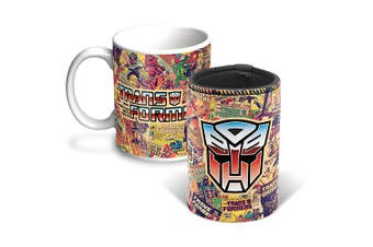 TRANSFORMERS Coffee Mug and Can Cooler Gift Pack