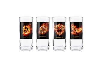 The Hunger Games MOCKINGJAY POSTER ART HIGH BALL GLASS SET
