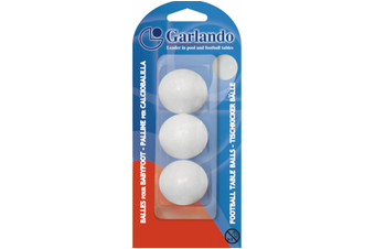 GARLANDO Soccer Foosball Table Balls 3 Pack White