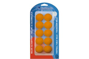 GARLANDO Soccer Foosball Table Balls 10 Pack Orange