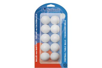 GARLANDO Soccer Foosball Table Balls 10 Pack White