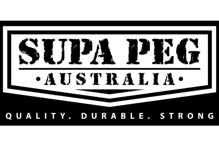 Tent Pegs SUPA PEG Poly Polypropylene Heavy Duty 300mm BLACK