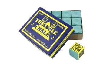 Triangle Pool Snooker Billiard Cue Tip Chalk Tournament Green Colour
