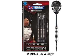 Winmau Robbie Green Steel Tip 90% Tungsten Darts - 24 Gram