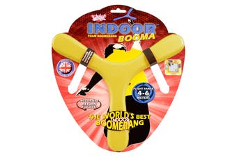 Wicked Indoor YELLOW Booma Boomerang Outdoor Toy Fun Game