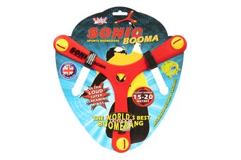 Wicked SONIC Booma Boomerang Outdoor Toy Fun Game RED