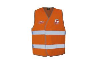Sydney Roosters NRL HI VIS Safety Work Vest Reflective Shirt ORANGE - S/M