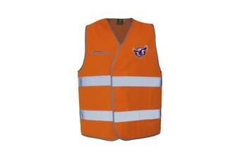 Manly Warringah Sea Eagles NRL HI VIS Safety Work Vest Reflective Shirt ORANGE - 5X Large