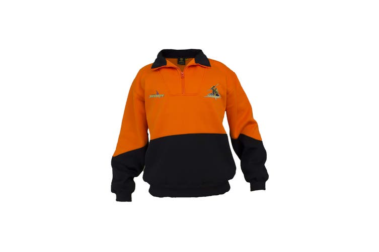 Melbourne Storm NRL HI VIS Work Jumper ORANGE NAVY - Medium