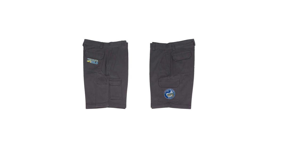 Dick Smith Parramatta Eels Nrl Cargo Work Shorts Black 8x Large 127cm Sports Collectables
