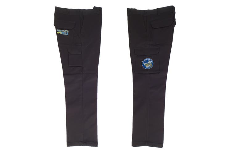Dick Smith Parramatta Eels Nrl Long Cargo Work Pants Black Workwear 3x Large 102cm Sports Collectables