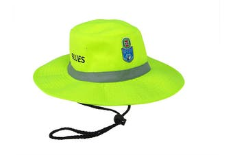 NRL State of Origin NSW New South Wales Blues High Vis Work Sun Hat - Medium 61cm