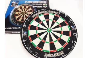 Genuine Bristle Sisal Australia PRO STAR Dart Board + Free Darts