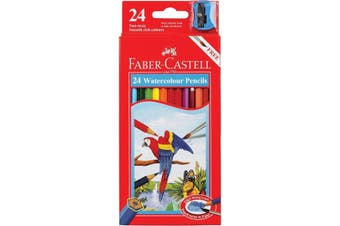 FABER CASTELL- Watercolour pencils Pack of 24