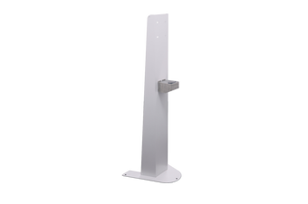 RAPIDLINE HAND SANITISER STAND With Dip Tray and Screw Down Base Plate White