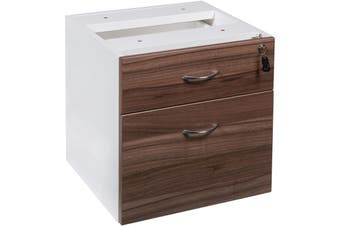OM PREMIERE FIXED PEDESTAL 1 Drawer 1 Filing W464 x D400 x H450mm Casnan/ White