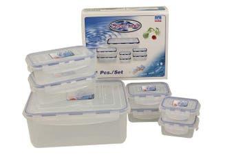Super Lock Containers Set 14 Piece (2 x 250ml, 2 x 390ml, 2 x 850ml, 1 X550mml) BPA Free