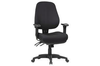 LOGAN LOW BACK Multi-Seating Chair BLACK FABRIC