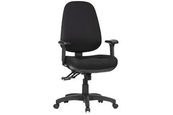 TR600 WITH HEIGHT ADJUSTABLE ARMS Task Chair METRO BLACK FABRIC