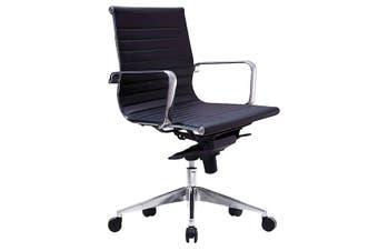 WEB LOW BACK Executive Chair BLACK PU
