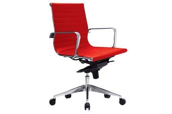 WEB LOW BACK Executive Chair RED PU