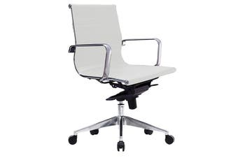 WEB LOW BACK  Executive Chair WHITE PU