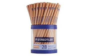 STAEDTLER 130 NATURAL Pencil 2B Cup of 100