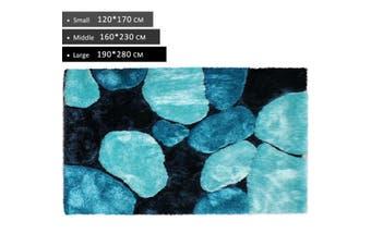 OliandOla 3D Thick Soft Shag Rug In Blue Black(170 x 120 cm)