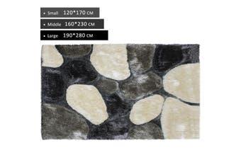 OliandOla 3D Thick Soft Shag Rug In Beige Grey Dark Grey(170 x 120 cm)