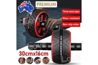 AB Abdominal Roller Wheel Fitness Waist Core Workout Exercise Wheel Home Gym