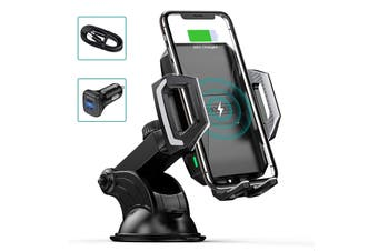 CHOETECH Wireless Car Charger Car Mount Holder For iPhone Samsung
