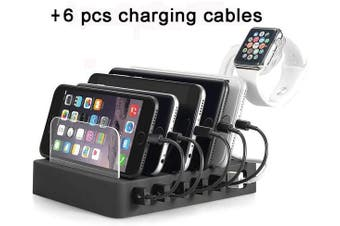 QC 3.0 Charging Docking Station 60W 12A 6 USB Port (Black)