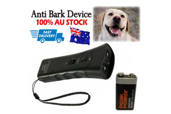 Anti Bark Device Ultrasonic Dog Barking Control Stop Repeller Trainer Train Tool (Black)