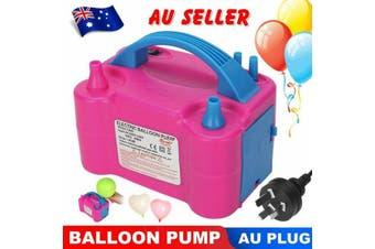 Electric Balloon Pump Ballon Inflator 600W Power 2 Nozzles Portable