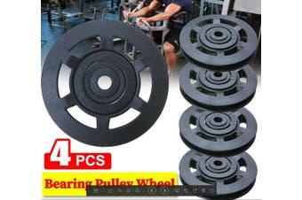 4PCS Bearing Pulley Wheel 95mm Wearproof Gym Fitness Equipment Part Universal AU