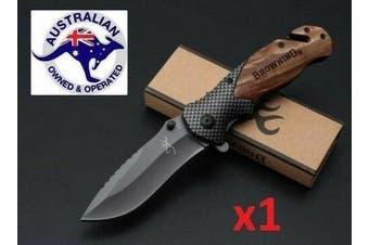Folding Opening Pocket Brown Knife (Hunting, Camping, Survival, Fishing)